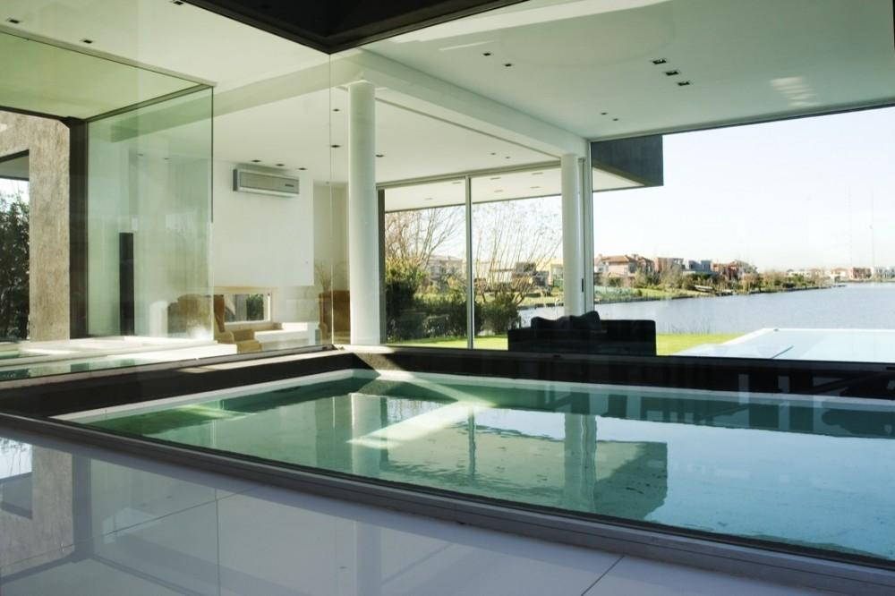 Remy Black House Indoor Pool Interior Design Ideas