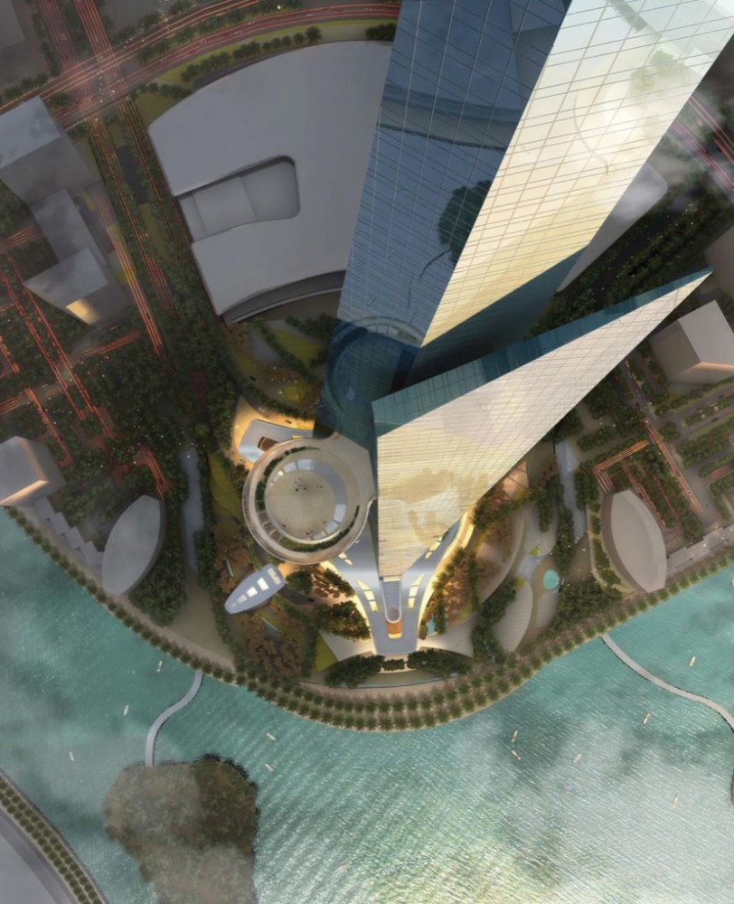 New Home Designs Latest Luxury Homes Interior Decoration: Kingdom-tower-view-from-top