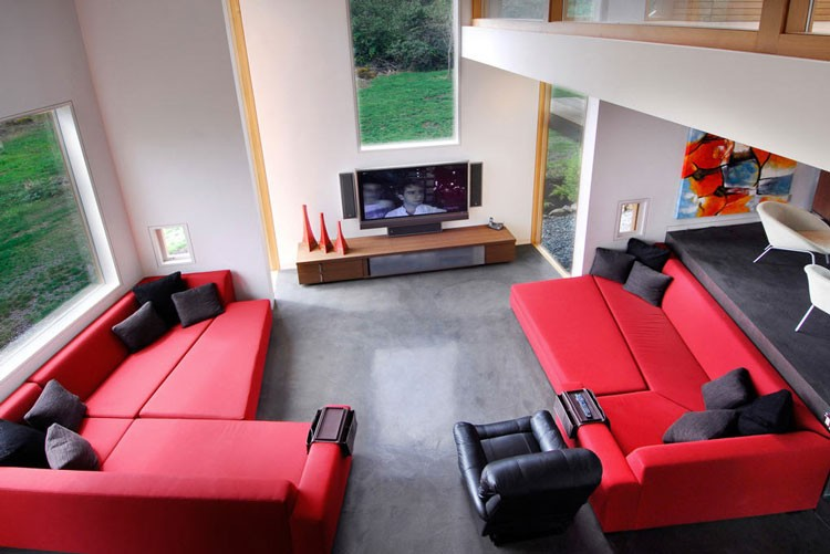 Swanwick Red And Black Living Room Interior Design Ideas