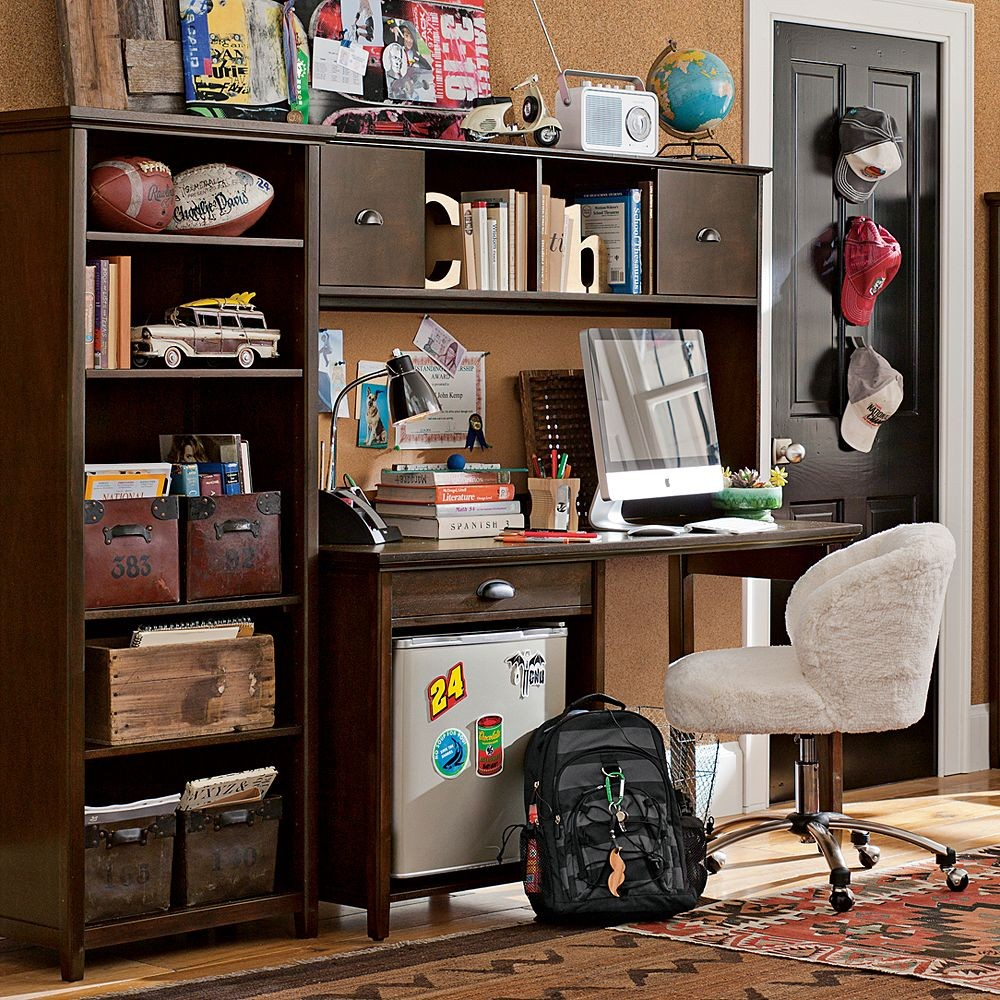 Boy Bedroom Storage: Study Space Inspiration For Teens