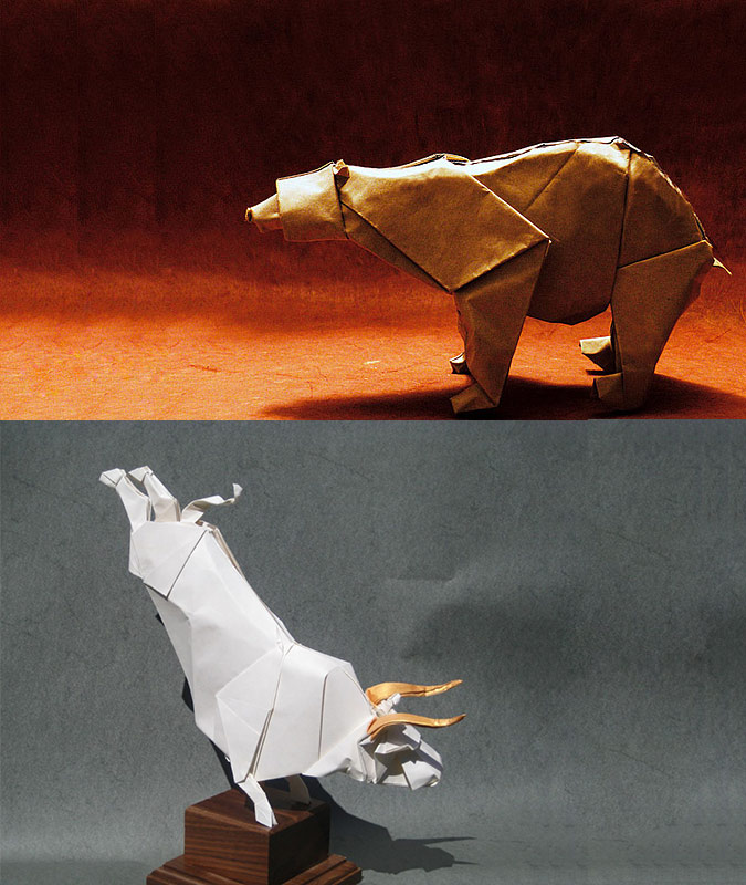 Origami Instructions Bear | How to Make Origami Bear | Origami ... | 800x675