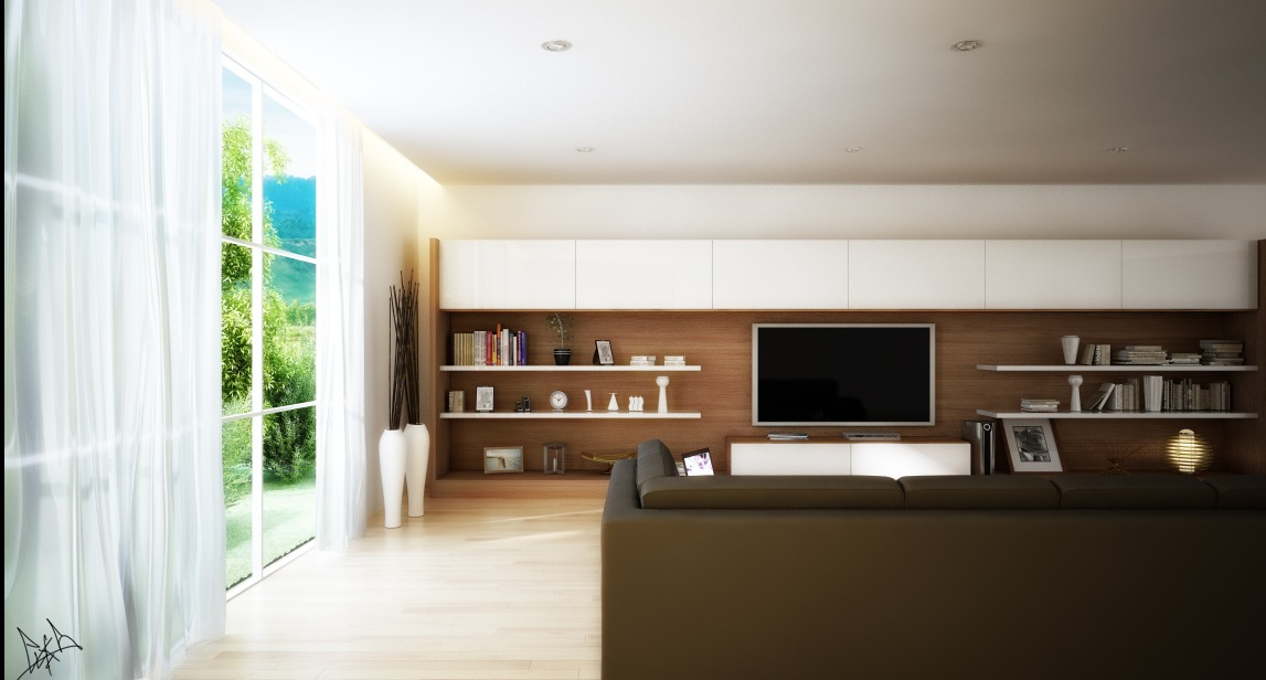 Living rooms round up - Hanging tv on wall ideas ...
