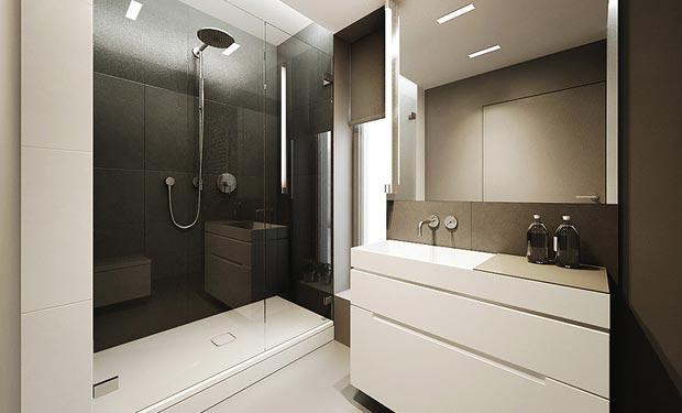 astounding calming modern minimalist bathroom white | Modern Minimalist Flat Interior Design