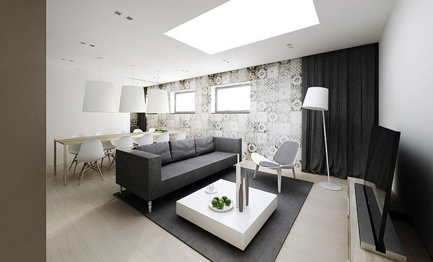 Modern Minimalist Flat Interior Design