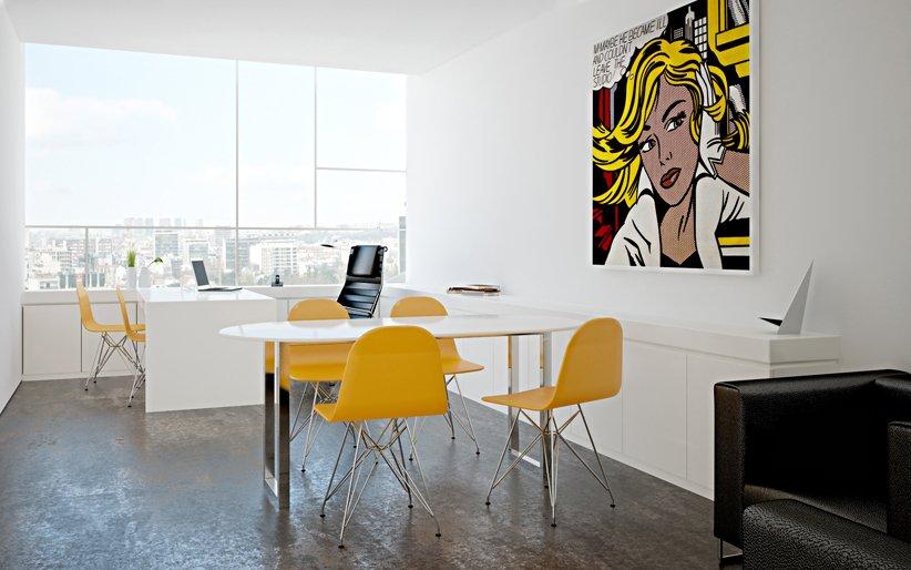 stunning office interior design wall art | Beautiful Offices of Stelmat Teleinformatica