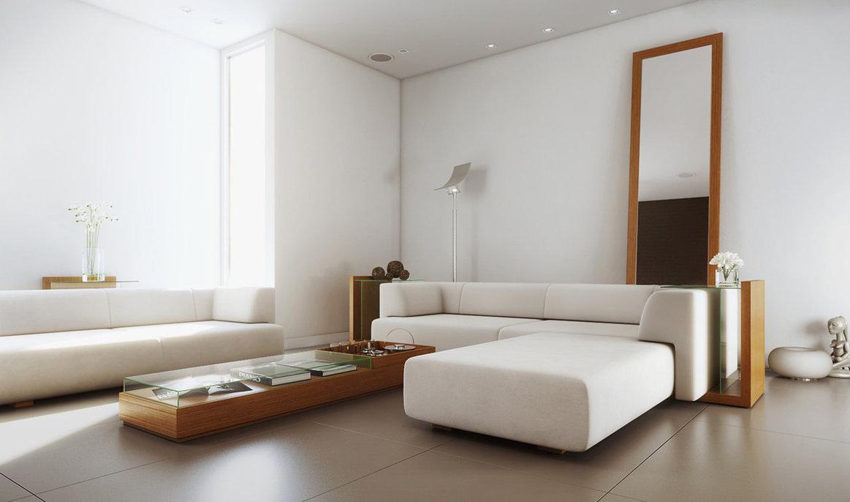 White Simple Living Roominterior Design Ideas