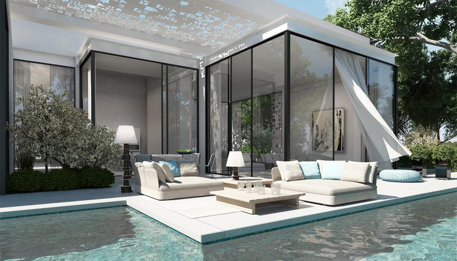 Garden landscape design inspiration for Zen pool design