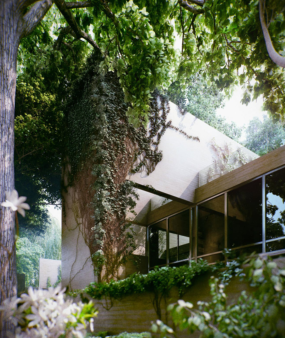 Modern Forest House: A Beautiful Ivy Overgrown House In Hungary