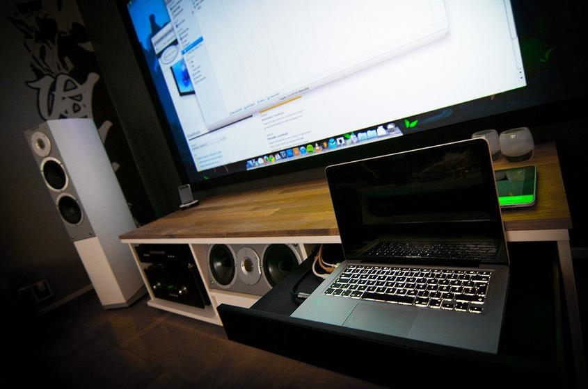 A massive home entertainment setup