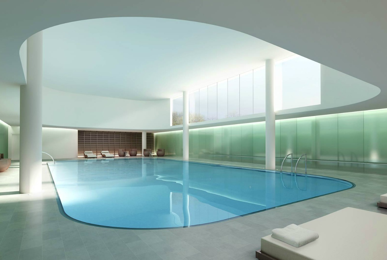 Architectural renderings by dbox for Pool design photos