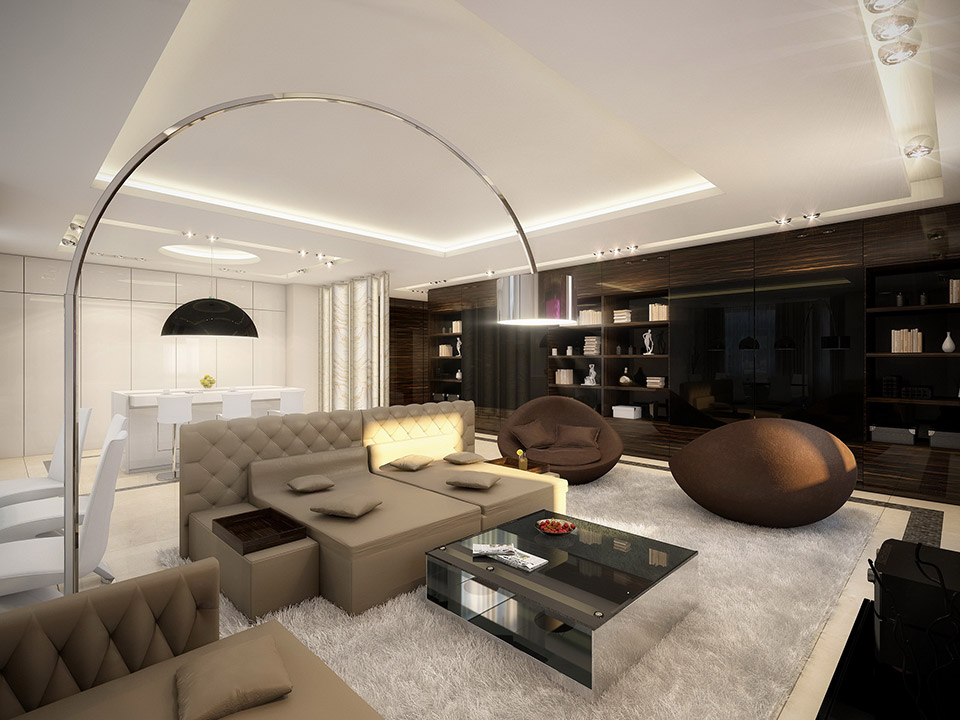 Large Living Room Design: Cohesive Interiors Shaped By Geometrix