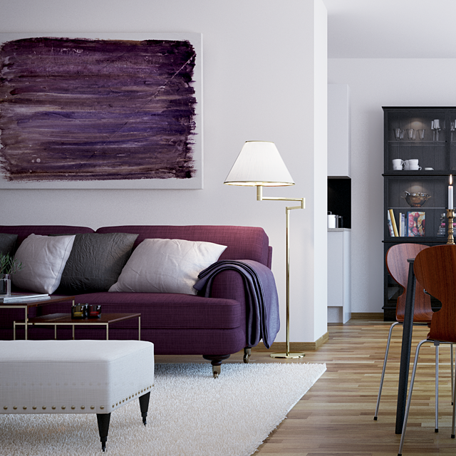 Purple Couch: Scandinavian Style City Living