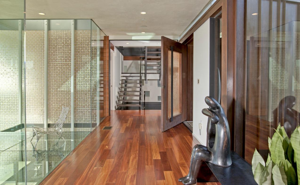 Glass Floor Wood Floor Interior Design Ideas