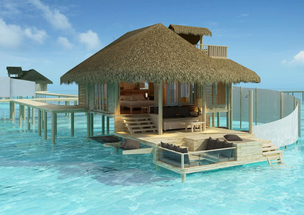 Paradise in maldives six senses resort laamu