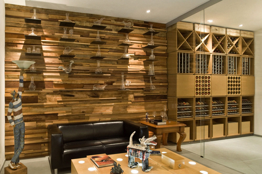 Mountain House Wine Cellar Interior