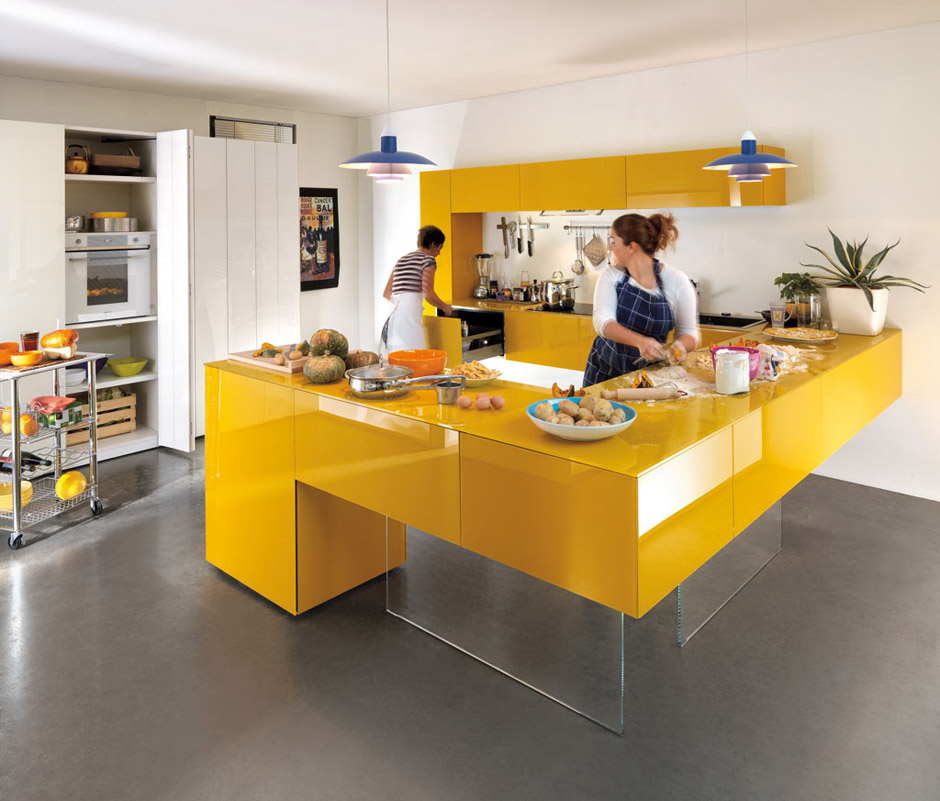 Modern Kitchen Designs: Yellow Room Interior Inspiration: 55+ Rooms For Your