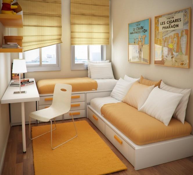 Small rectangular room design