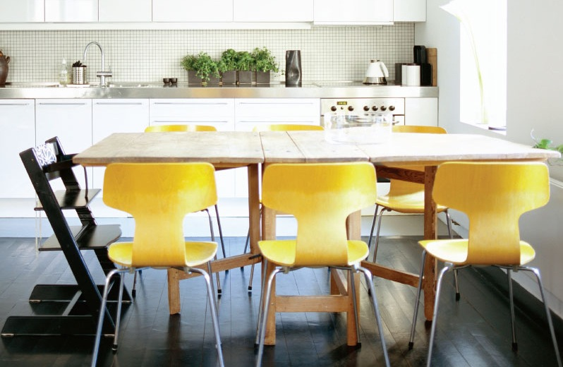 43 yellow dining chairs interior design ideas rh home designing com