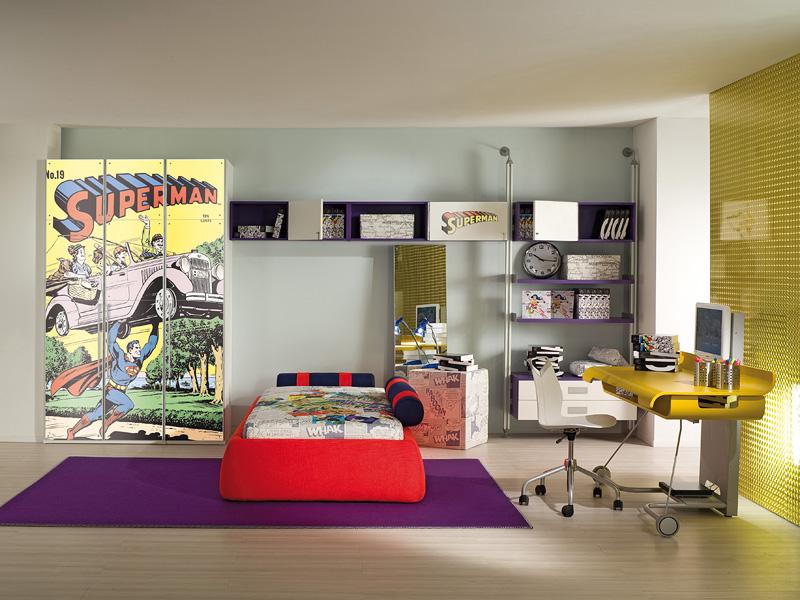 Superman theme room   Interior Design Ideas.