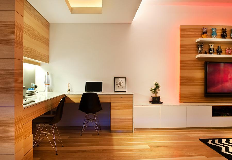 Wooden apartment in hong kong