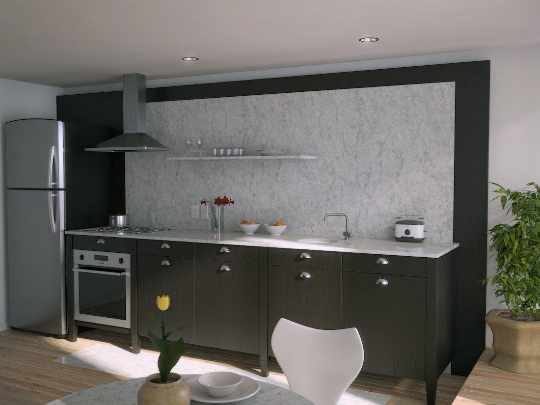 Black Kitchen Marble Splash Backinterior Design Ideas