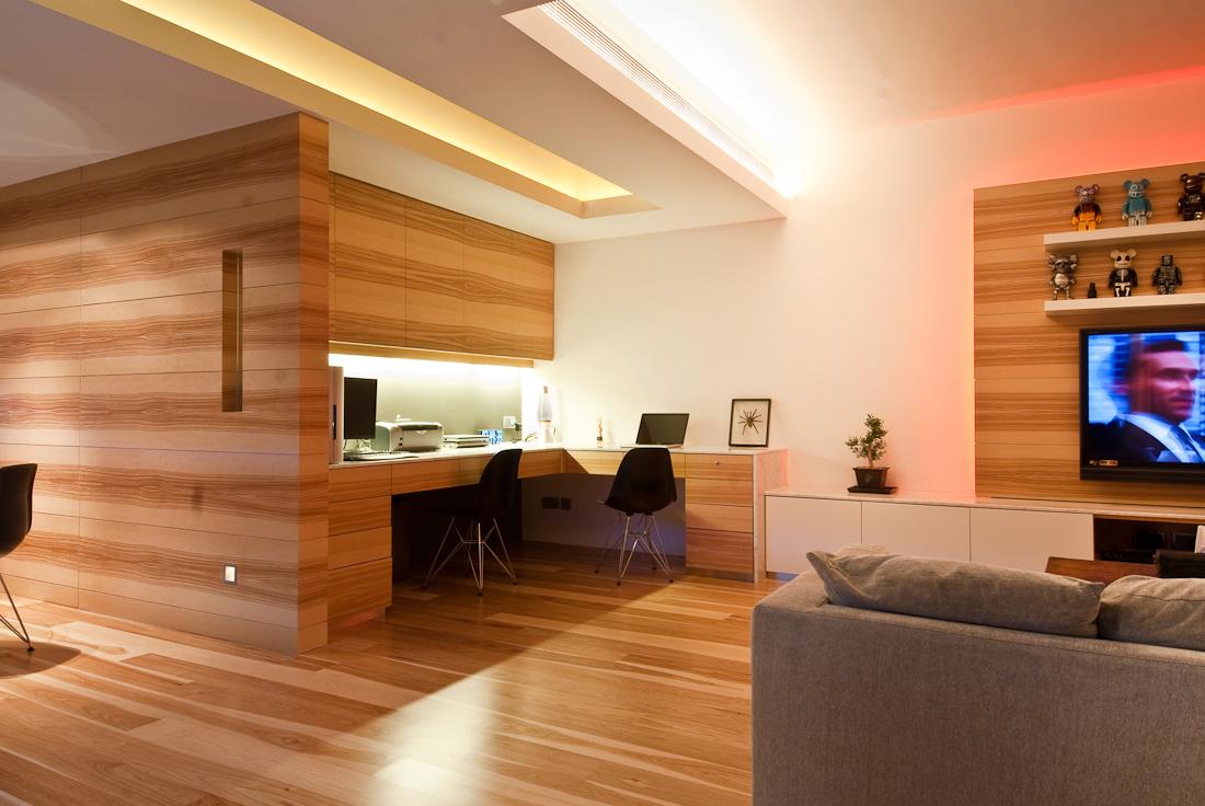 Wood Home Office Interior Design Ideas