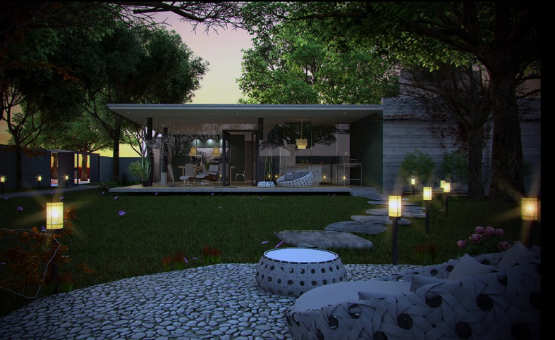 Contemporary exteriors in nature visualized
