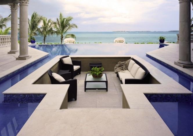 Conversation Pits & Sunken Sitting Areas - Round Seating Interior Decoration