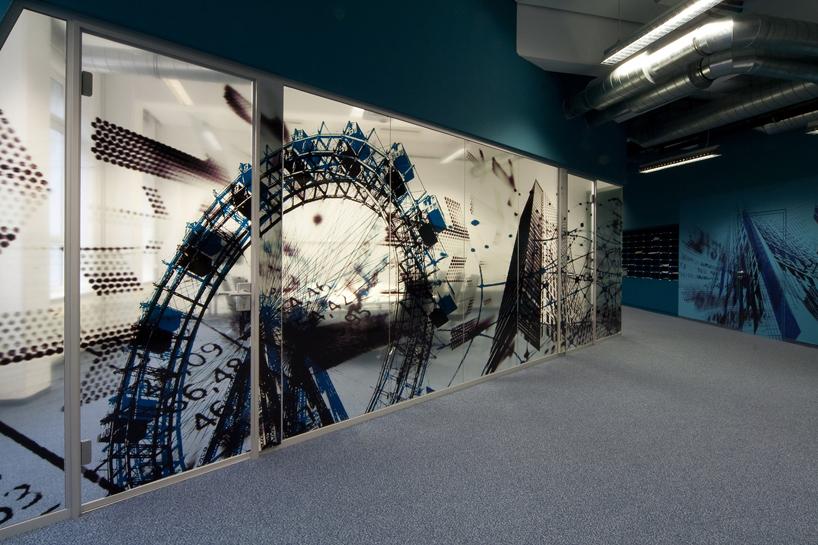 Austrian newspaper wirtschafts blatt offices - Graphic design for interior designers ...