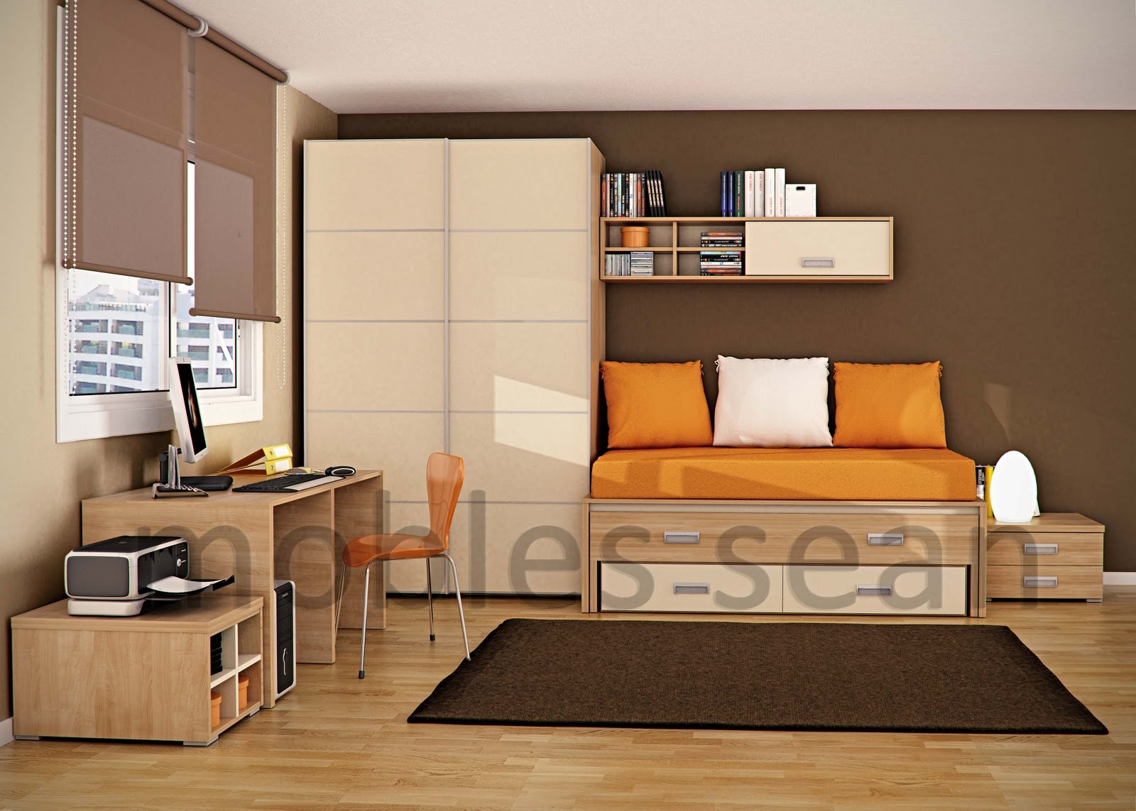brown and orange bedroom ideas home design e saving designs for small kids rooms - Orange And Brown Bedroom Ideas