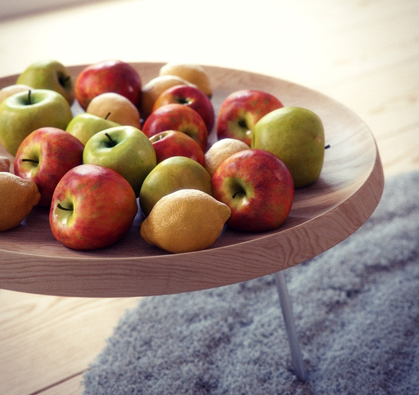 Fruit Bowl Side Table Render By Bbb Interior Design Ideas