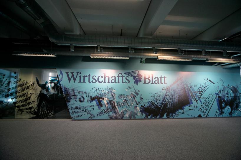 Wirtschaft Blatt Newspaper Office Wall Art