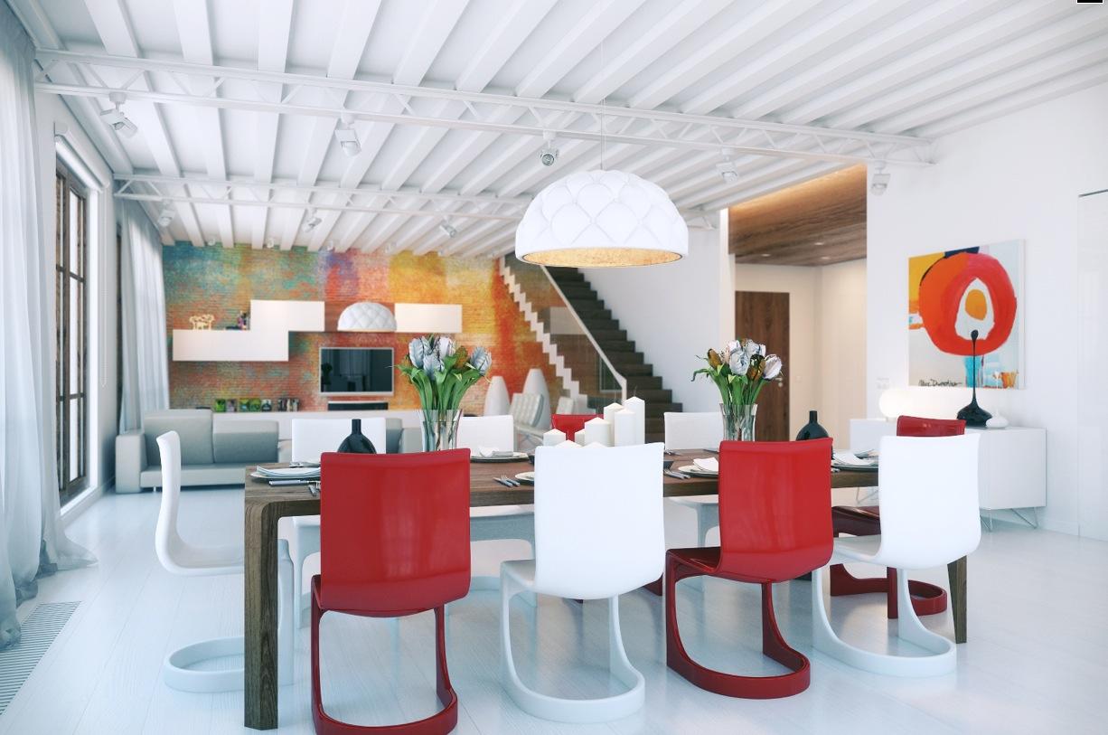 Dashingly Colorful Loft Design