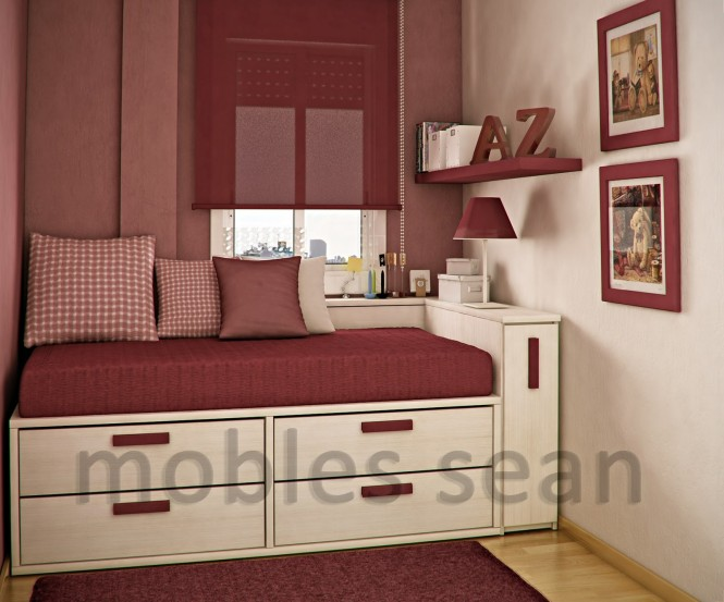 space saving designs for small kids rooms 18452 | red white small kids room 665x553