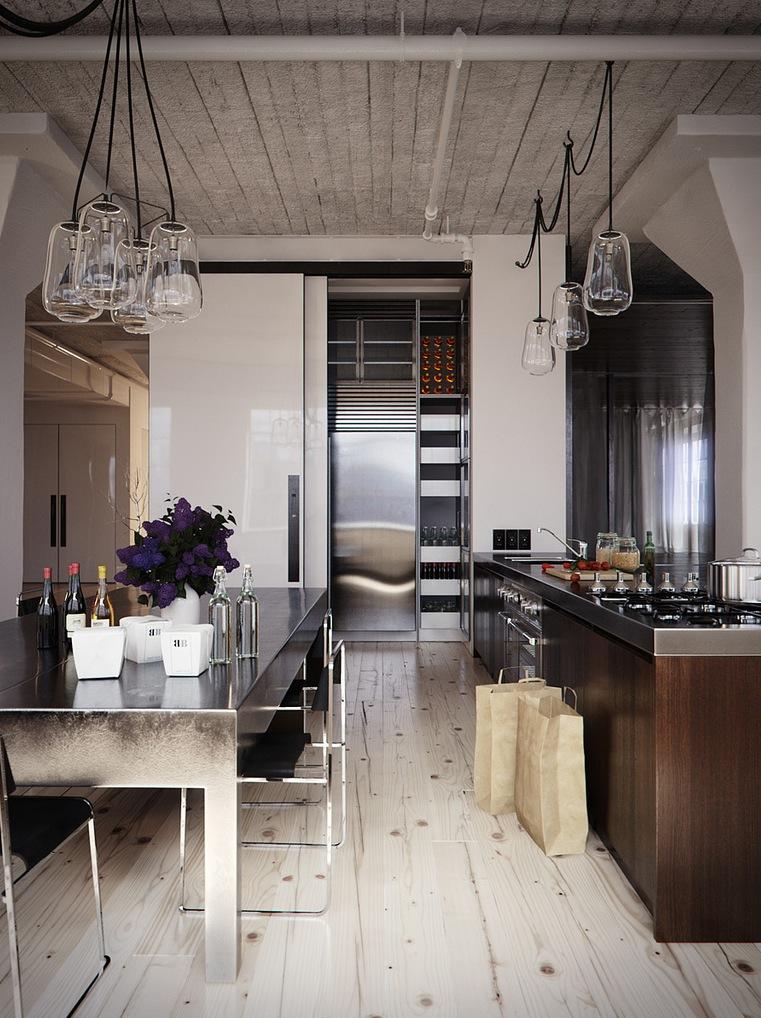 Wood stainless steel kitchen diner interior design ideas - Kitchen design and decorating ideas ...