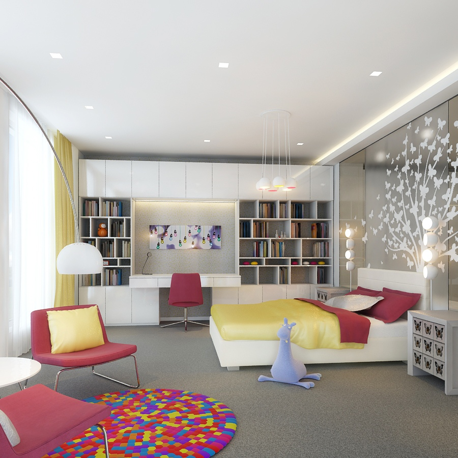 Contemporary House Interior Designs: Kids Rooms: Climbing Walls And Contemporary Schemes