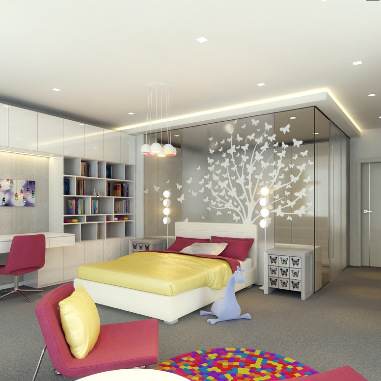 Colorful Kids Room Design: Kids Rooms: Climbing Walls And Contemporary Schemes