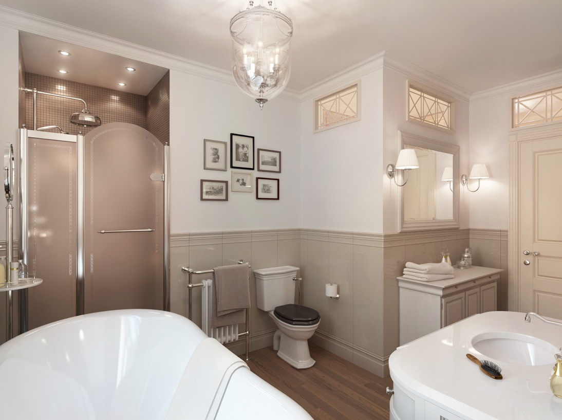 Traditional Bathroom Design Ideas: Neutral Traditional Bathroom