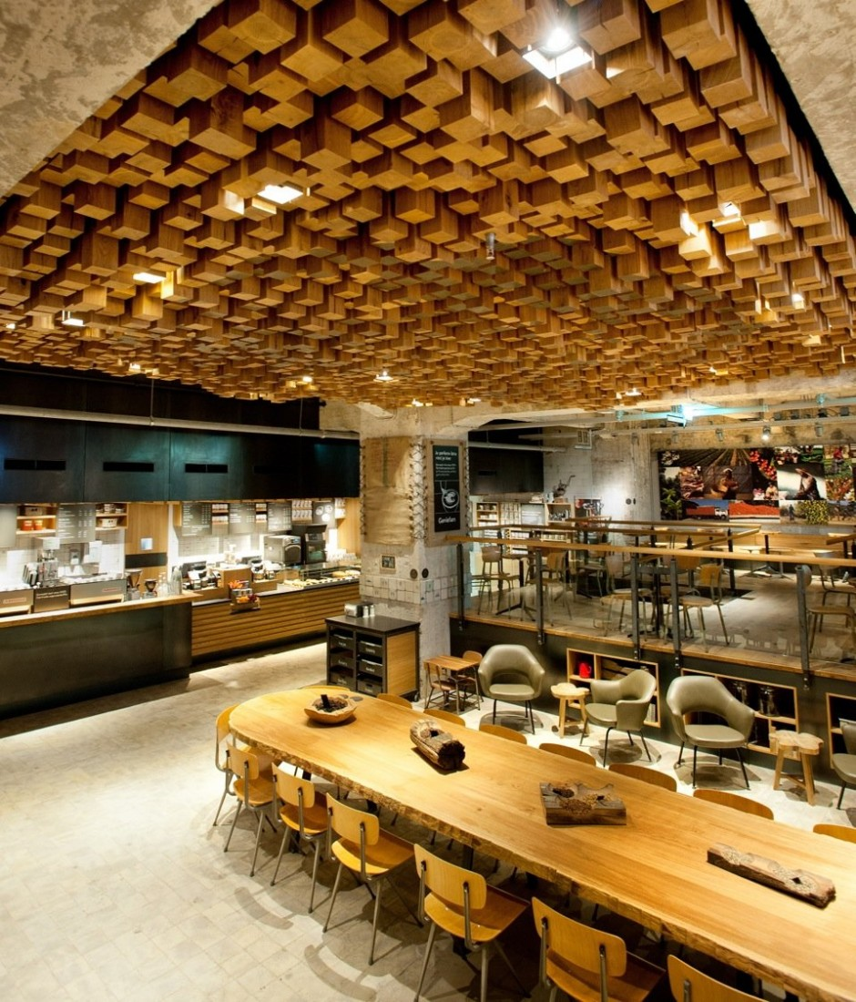 Interior Design: Starbucks Concept Store In Amsterdam