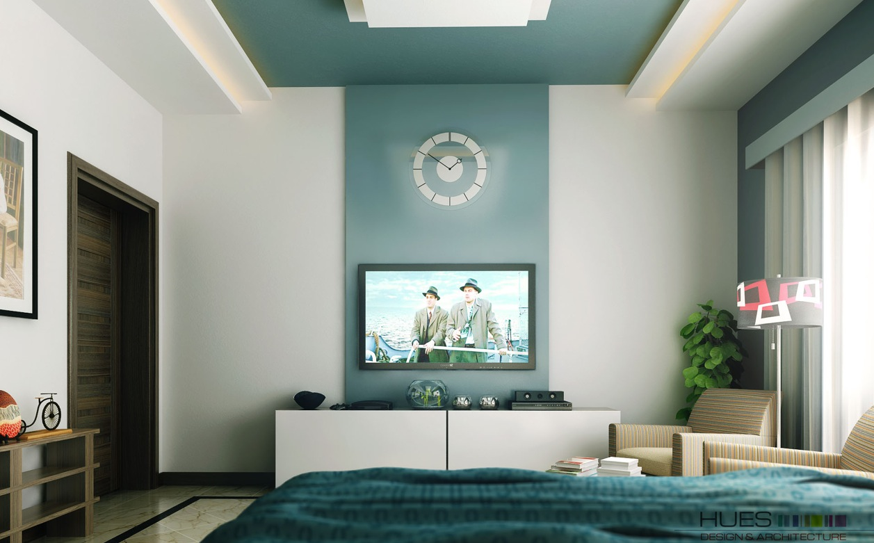Teal White Tv Entertainment Unit Interior Design Ideas