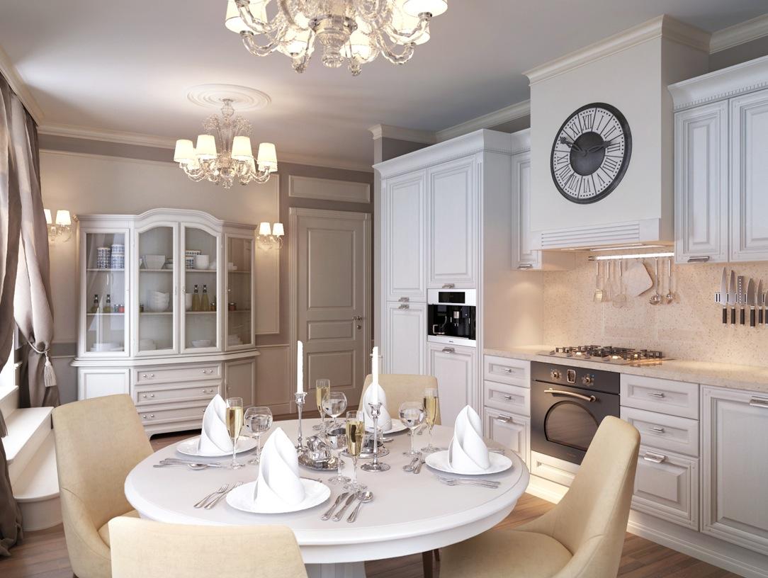 White Traditional Kitchen Dinerinterior Design Ideas