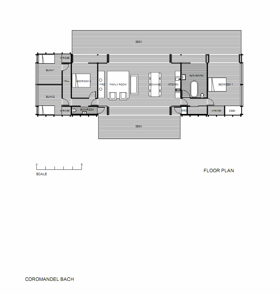 House Plans For Container Homes: Container-like Bach In Coromandel