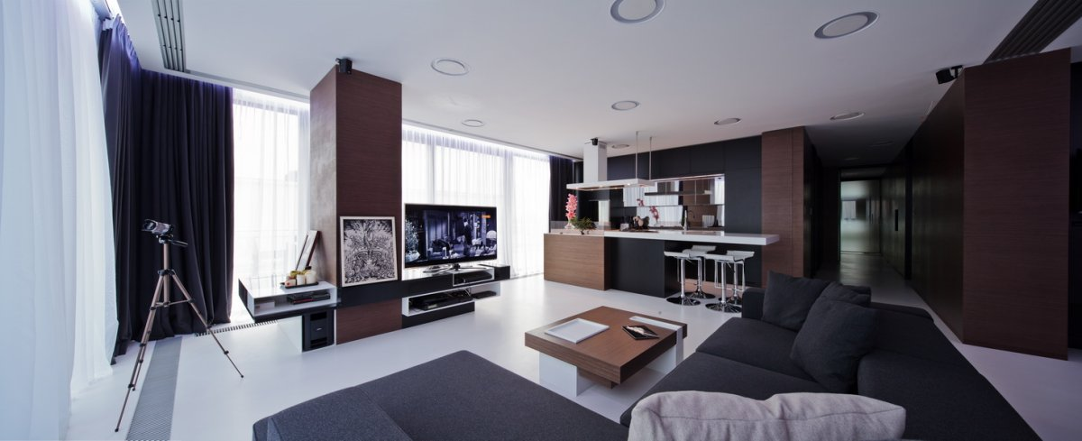 Black Brown Living Room