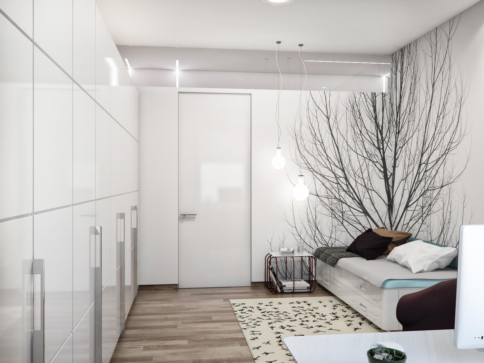 Black White Guest Bedroom Interior Design Ideas