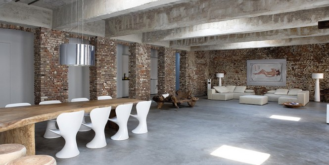 Exposed brick wall interior decor