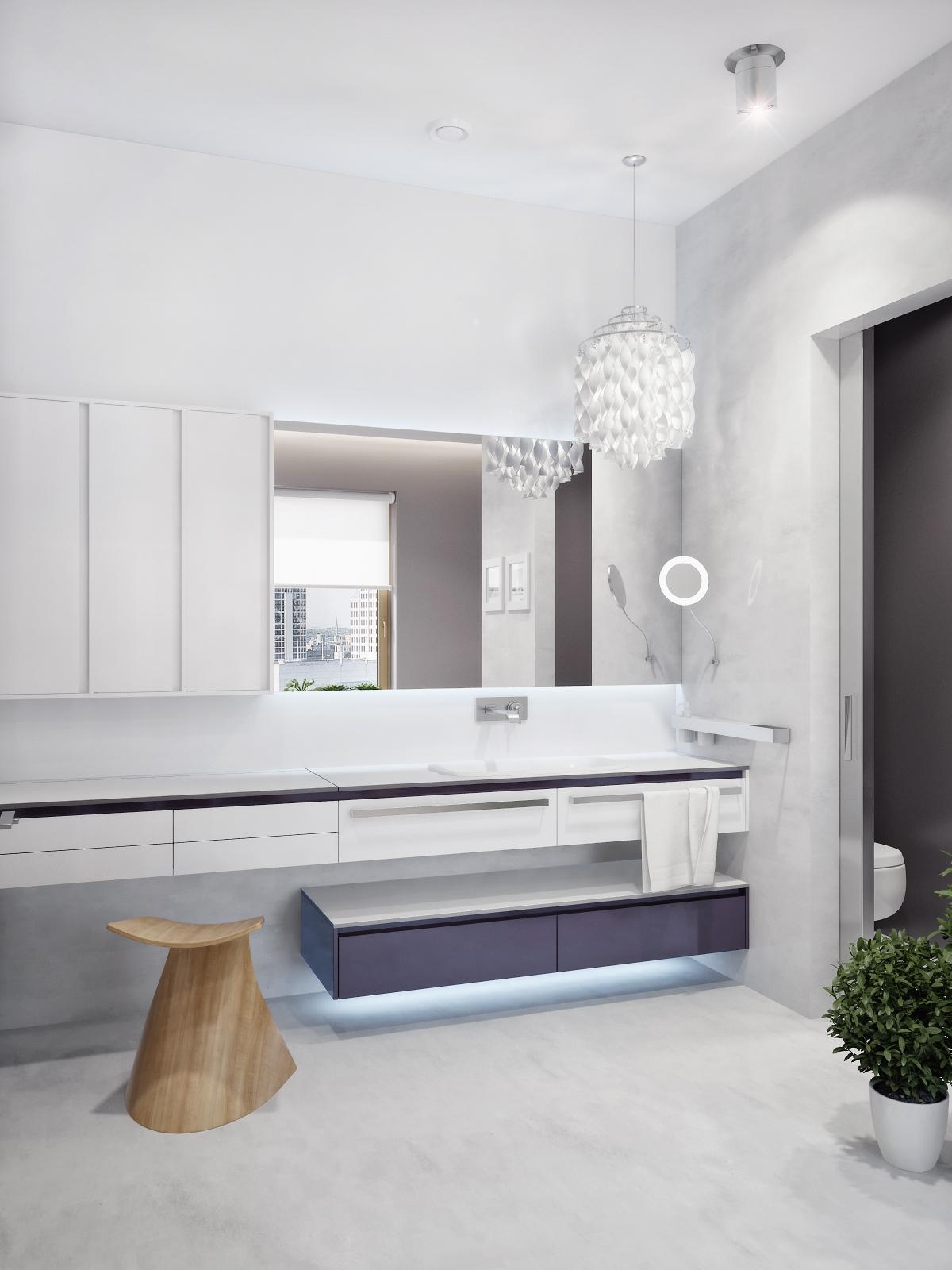 Modern White Vanity Unit Interior Design Ideas