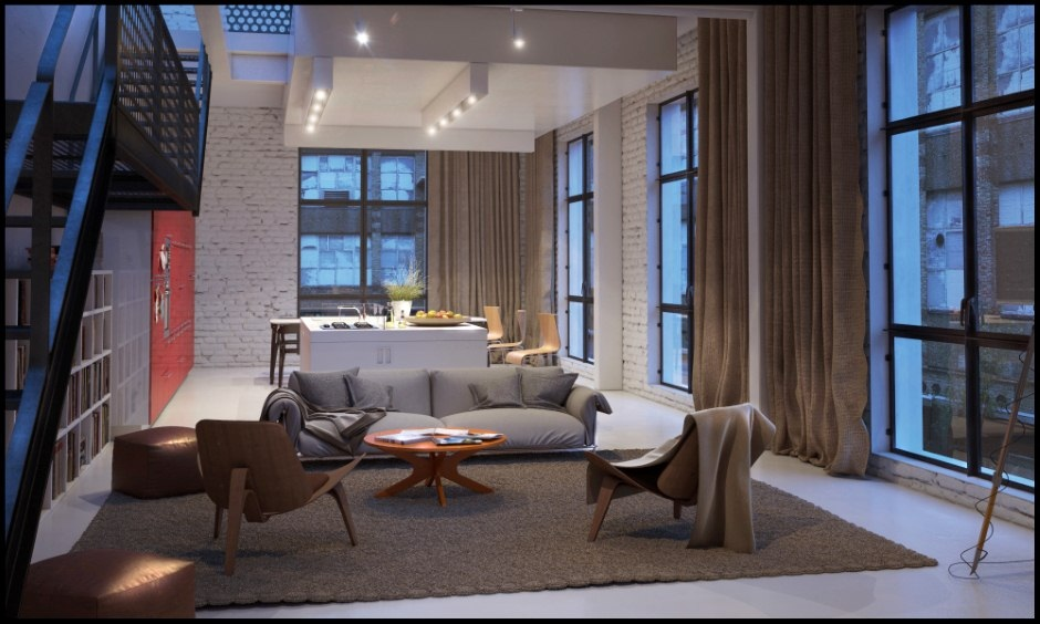 Chilled out contemporary living rooms - Modern apartment living room ...