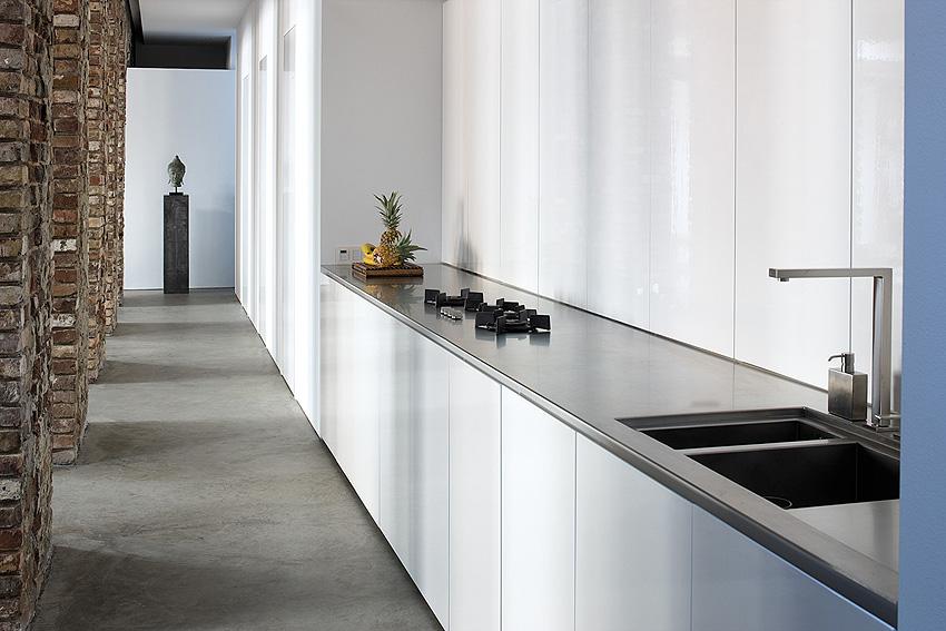 White Gloss Galley Kitchen Unitsinterior Design Ideas