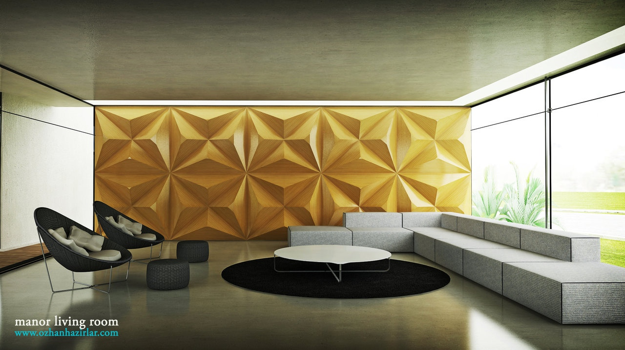 black yellow white living room textured wall | Interior ...