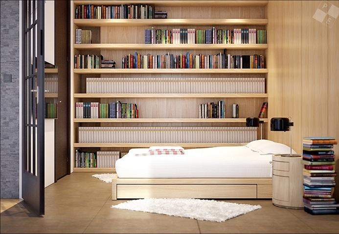 Built in bookshelves interior design ideas - Bookshelf ideas for bedroom ...